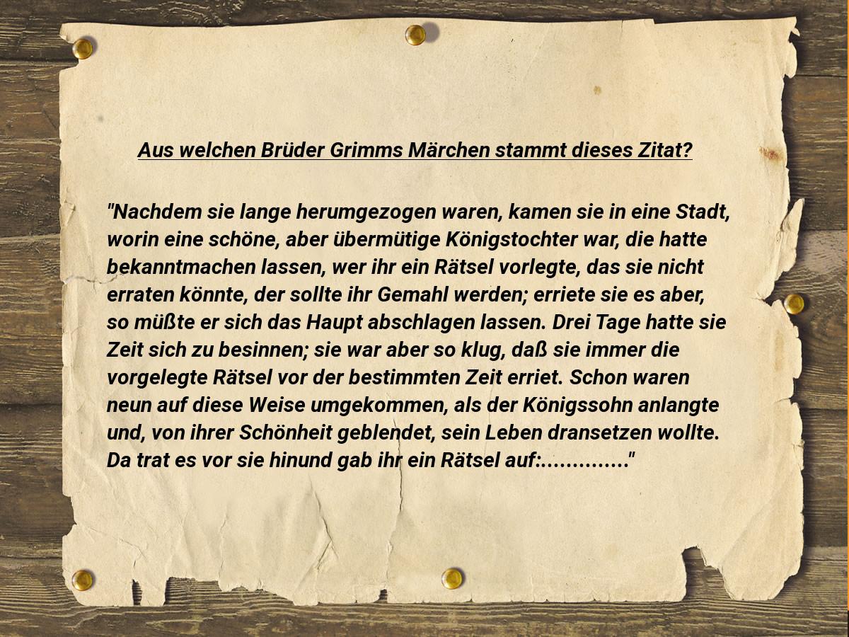 Brüder Grimms Märchen Rätsel 3 Lesebuch